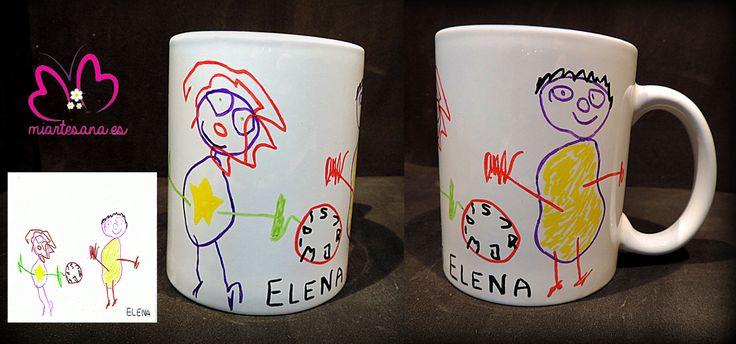 Elena hizo dos dibujos preciosos y los hemos convertidos en estos dos tazones para sus abuelos, dos tazones personalizados que llevan todo el cariño de su nieta y que seguro les gustarán muchísimo. <3 ELENA PEQUE-ARTISTA <3