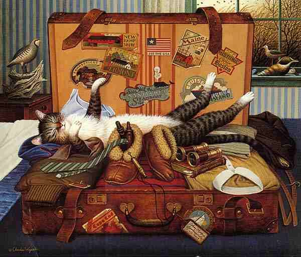10+ Images About Artist: Charles Wysocki And His Cats On