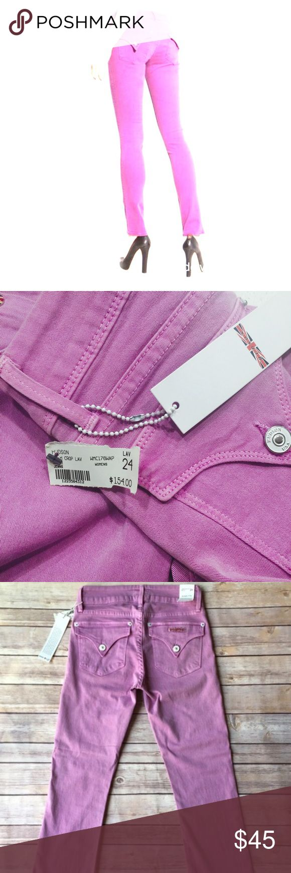 Hudson size 24 Lavender jeans ! NWT  Beth style Such a cool pair of jeans NWT Beth style crop or petite all original tags has some stretch for a nice fit !    Just too big for me 261/2 inch inseam can be rolled for Capri style cute with booties or heels ! Hudson Jeans Jeans Ankle & Cropped