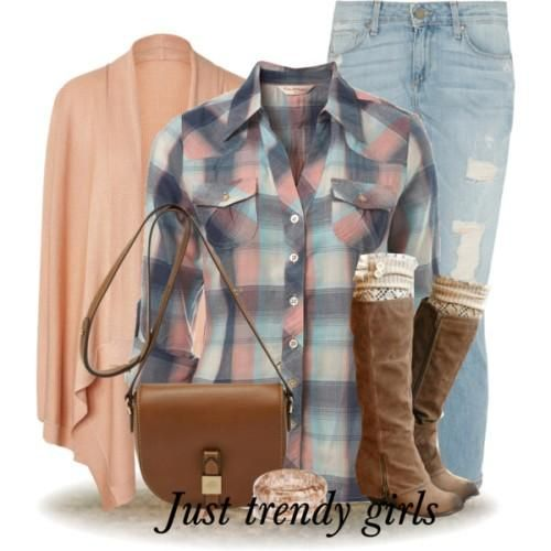 plaid shirt for girls, Cowboy checked shirts with denims http://www.justtrendygirls.com/cowboy-checked-shirts-with-denims/