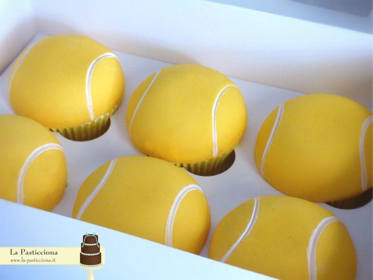 cupcakes con pallina da tennis