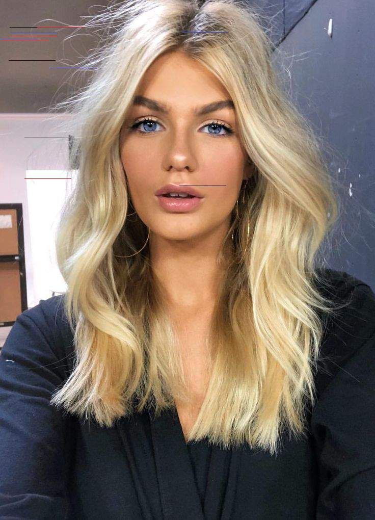 Medium Length Hair With Volume And Soft Curls Shinny Blonde Hair