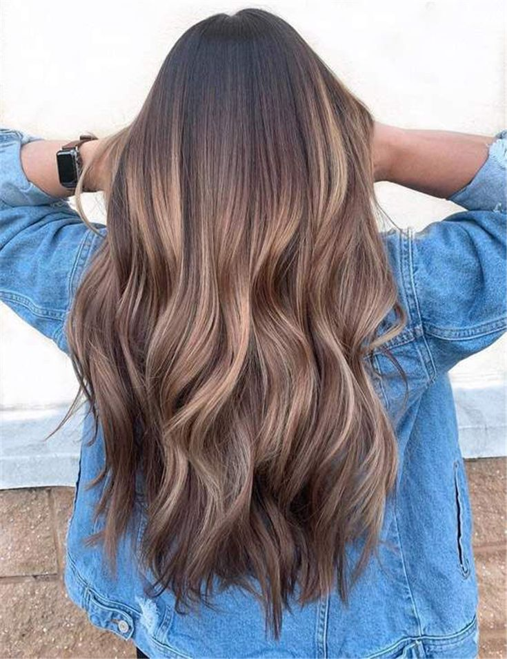 stunning caramel highlight hair