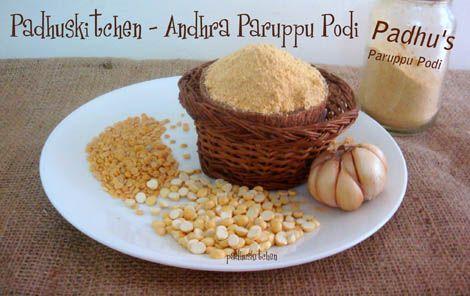 Andhra Paruppu Podi Recipe-Kandi Podi