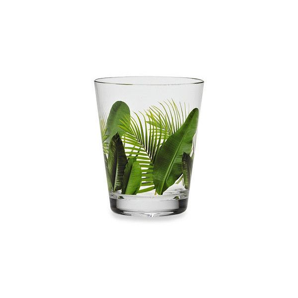 Poolside Palms Acrylic 15 1/2-Ounce Double Old Fashioned (140 PHP) ❤ liked on Polyvore featuring home, kitchen & dining, drinkware, outdoor drinkware, outdoor palm plants, outdoor palm tree, tropical palms and paradise palms