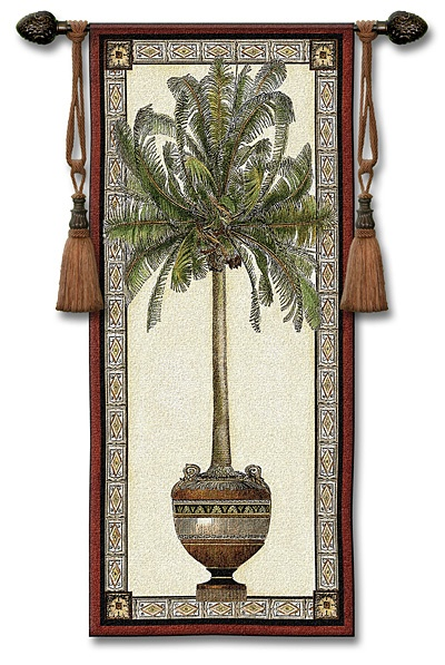 Old World Palm Tree Ii Tapestry Wall Hanging Trees