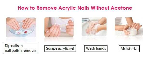 How to Remove Acrylic Nails Without Acetone at Home ...