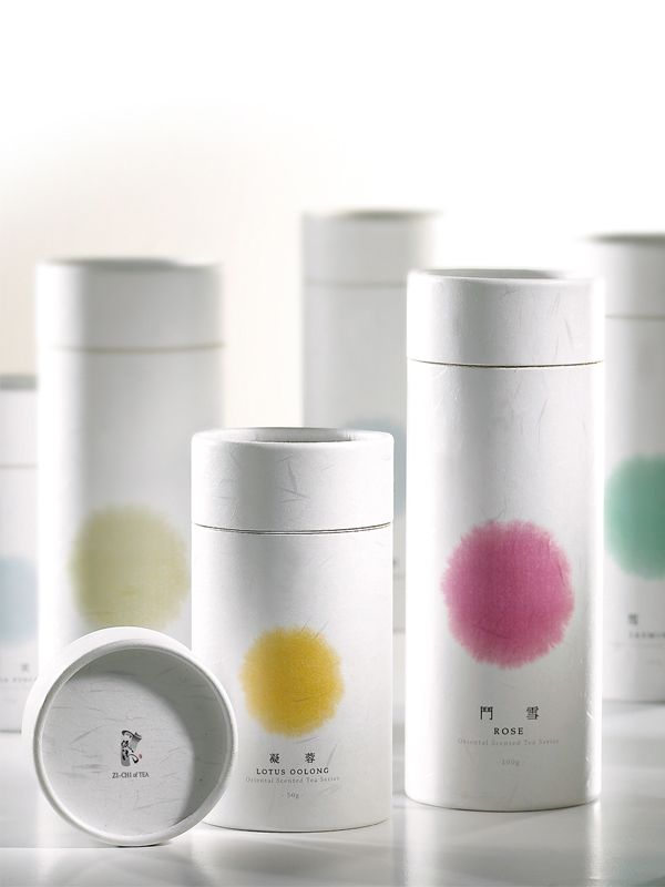simple but pretty tea packaging (ZI-CHI of TEA by ANGLE visual integration)