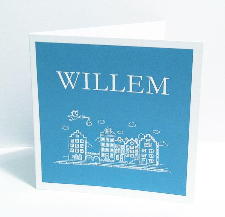 geboortekaartje ontwerp Willem