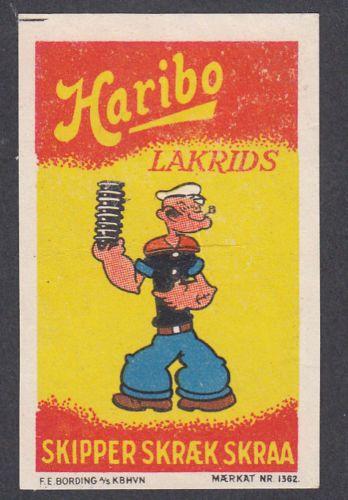 Denmark Poster Stamp Haribo Licorice Popeye | eBay