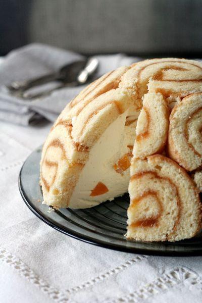 Charlotte cake- peach and orange