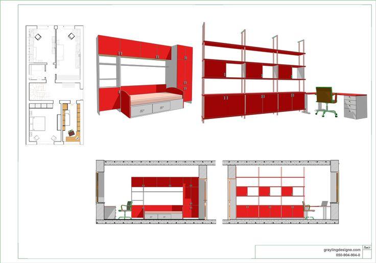 Планировка детской 1 – Архитектурная студия Grayling Design