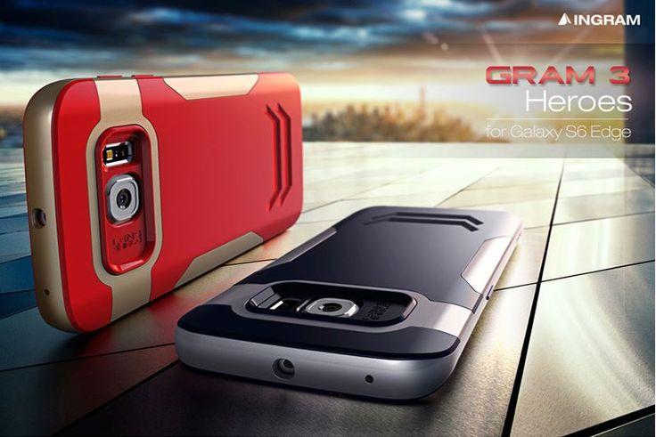 INGRAM GRAM3 HEROES SHOCK-ABSORBING CASE FOR GALAXY S6 EDGE