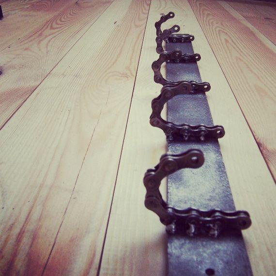 Dirt bike chain hooks!!! Love this