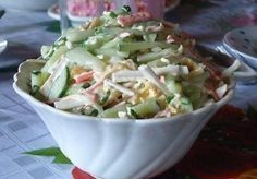 Салат с сыром сулугуни (косичкой) | Кулинарные Рецепты