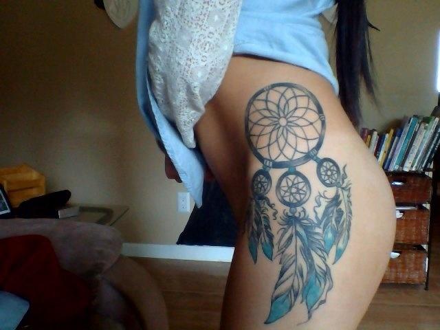 Tattoo tattoo s dreamcatchers dreamcatcher tattoo thigh