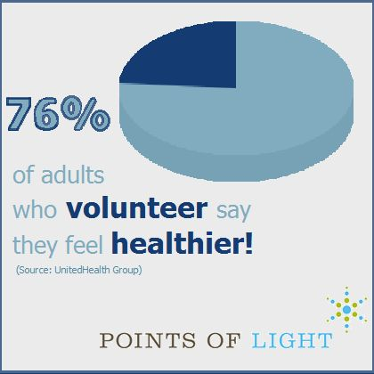 Volunteer and feel healthier!