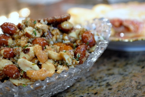 Sweet and Spicy Mixed Nuts. These nuts mixed with bacon, rosemary, brown sugar and Cayenne pepper are so good it will make you slap your mama.: Holidays Recipes, Holiday Recipes