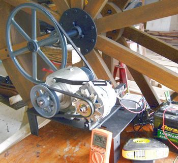 Another waterwheel using Windbluepower PMA