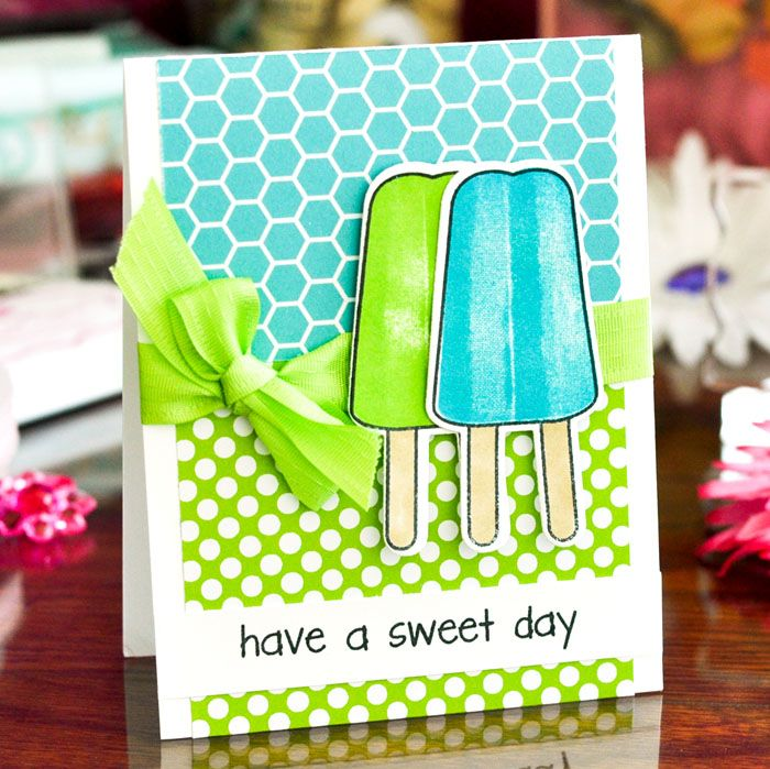 card ice cream popsicle birthday greetings lollies sweet greetings - ispind kort The Stamps of Life