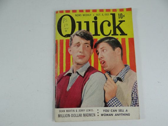 Oct 8 1951 Quick News Weekly  Dean Martin Jerry by SecondWindShop