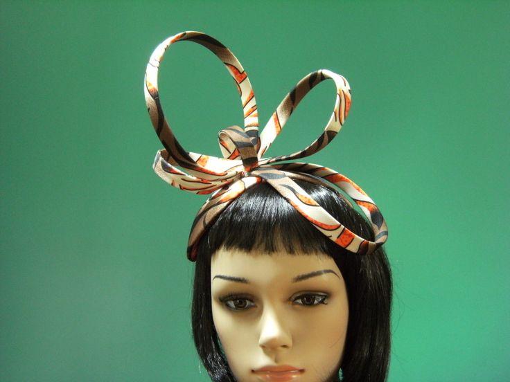Fabric Fascinator.  #Milliner: Toni Spence