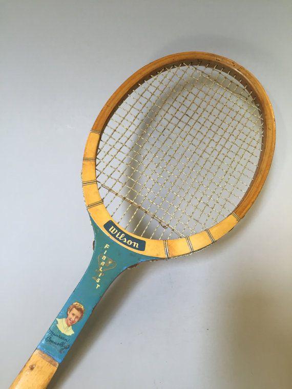 WILSON TENNIS RACQUET, Maureen Connolly tennis racquet, Vintage Wilson Racquet, vintage sport equipment, famous player series tennis racquet