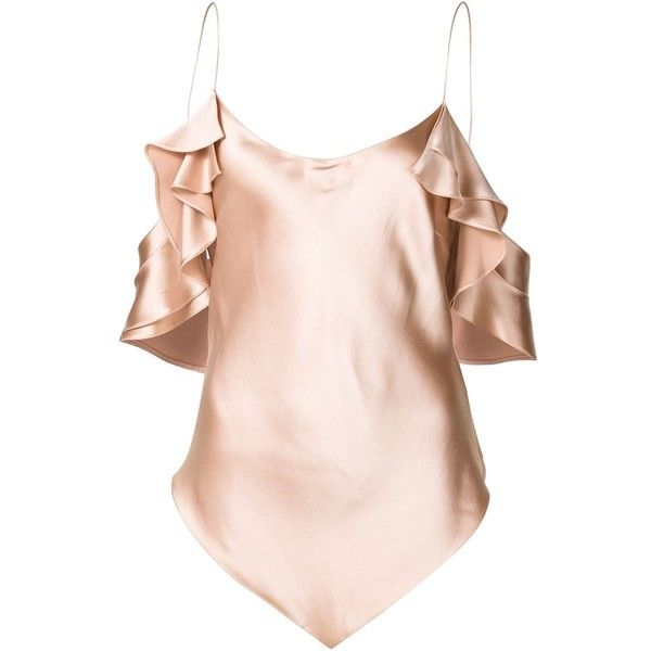 Juan Carlos Abando 'Diamond' Camisole Top ($1,195) ❤ liked on Polyvore featuring tops, pink, cami top, pink cami top, pink cami, pink camisole top and diamond tops