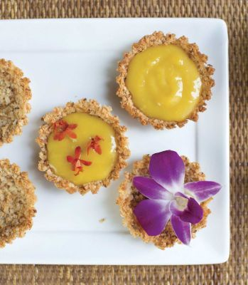 """Passionfruit orchid tartlets.... (from Miche Bacher's """"Cooking with Flowers"""")"""