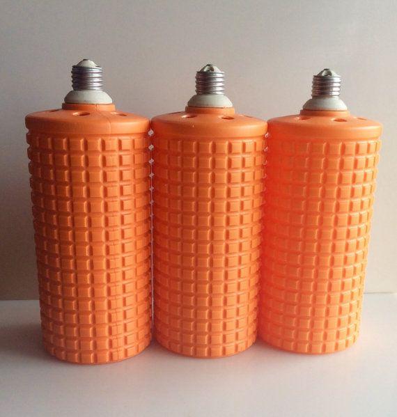 1960s DINER Orange Screw in Pendant Lights / by RevivalVintageATX