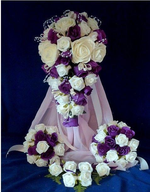 Cadbury Purple Silk Wedding Flowers : Wedding flowers bridal