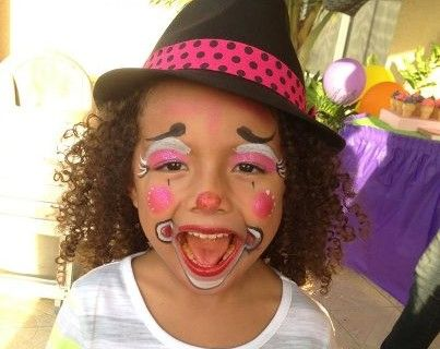 31 best images about face painting clown make up on for Face painting clowns for birthday parties