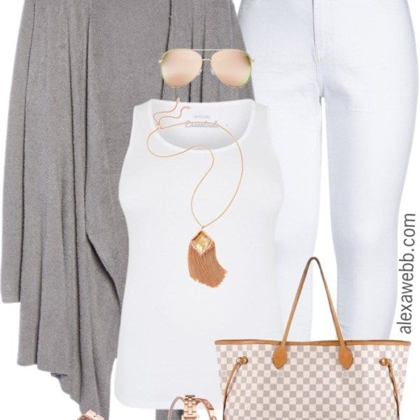 Plus Size Spring Grey Cardigan Outfit