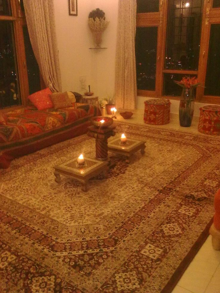 Traditional Indian Living Room Setup