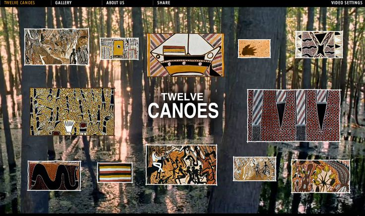Twelve Canoes is a website from the Ramingining people of Central Arnhem Land. It has high quality images, digital stories and information about The Macassans, ancestors, ceremony, seasons, kinship, language, art and more.