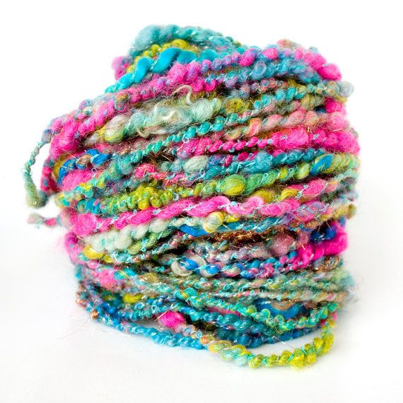 Handspun Art Yarn Textured Yarn Jasmine 66 yards by HelloPurl, $58.00... Love this!!