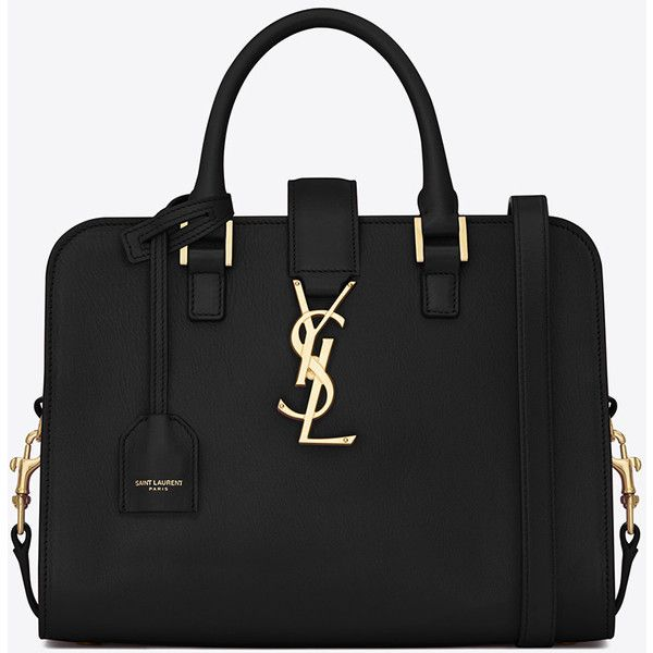TUBULAR TOP HANDLE BAG WITH GOLD-TONED INTERLOCKING YSL SIGNATURE ...