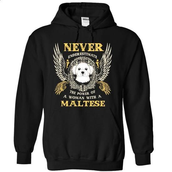 Power Of Maltese Woman - SkyPin - #tee #black sweatshirt. GET YOURS => https://www.sunfrog.com/Pets/Power-Of-Maltese-Woman--SkyPin-9992-Black-10577969-Hoodie.html?60505