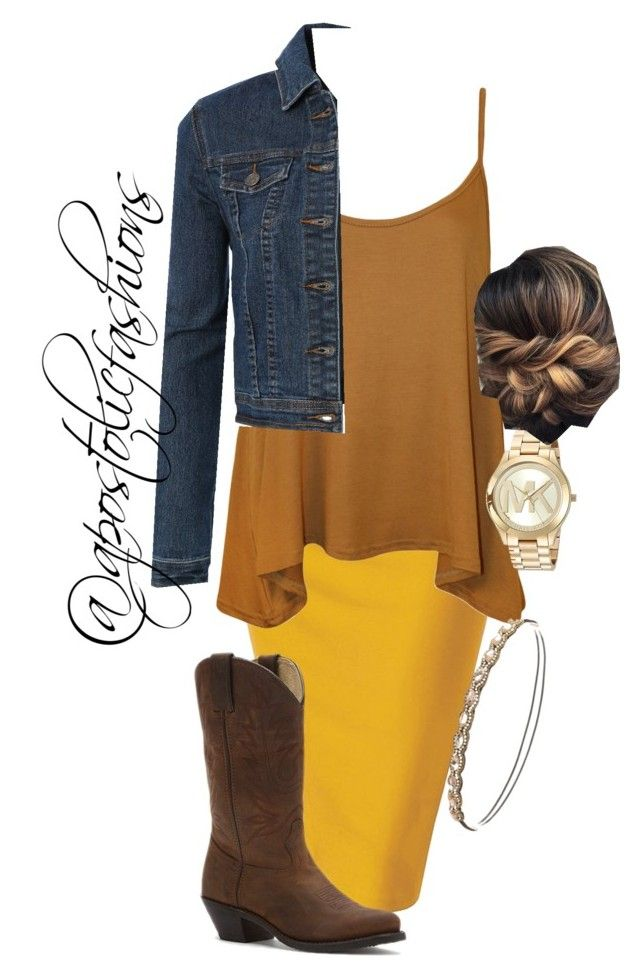 """Apostolic Fashions #1786"" by apostolicfashions on Polyvore featuring WearAll, LE3NO, Durango, Michael Kors and Charlotte Russe"