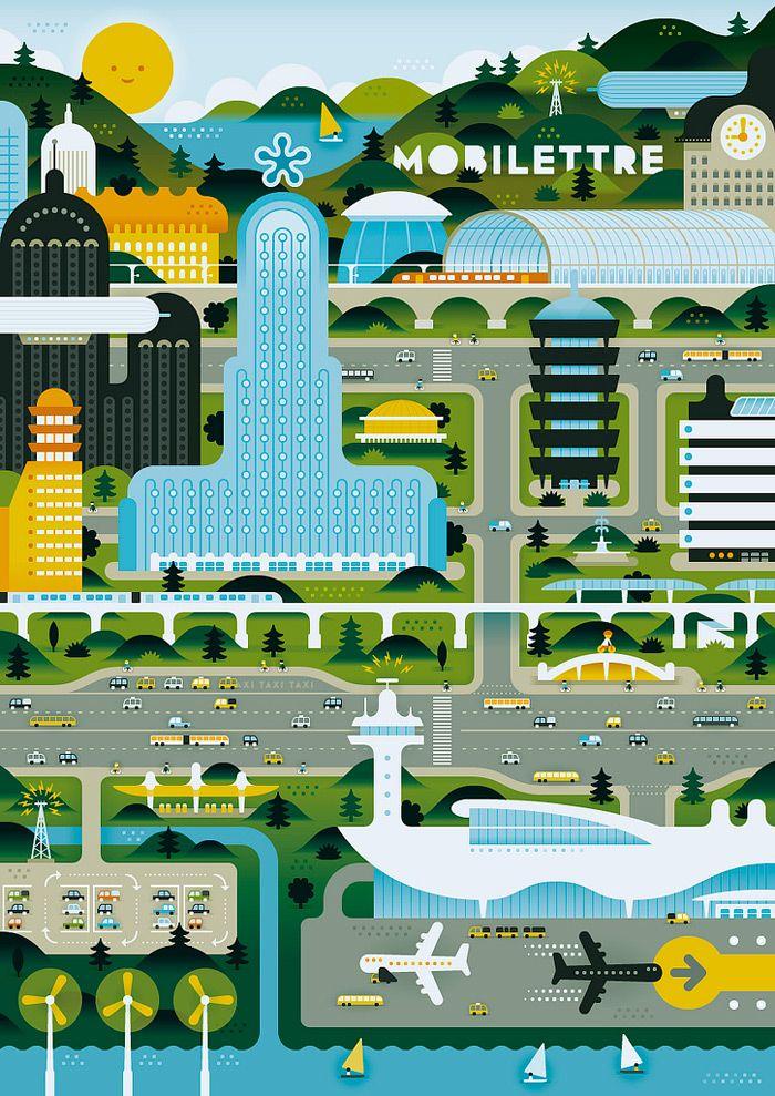 Green City #art #illustration