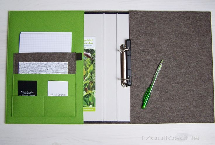 GÄSTEMAPPE: Ringbuch Organizer Filz Design by Bruni Wallner@Maultäschle