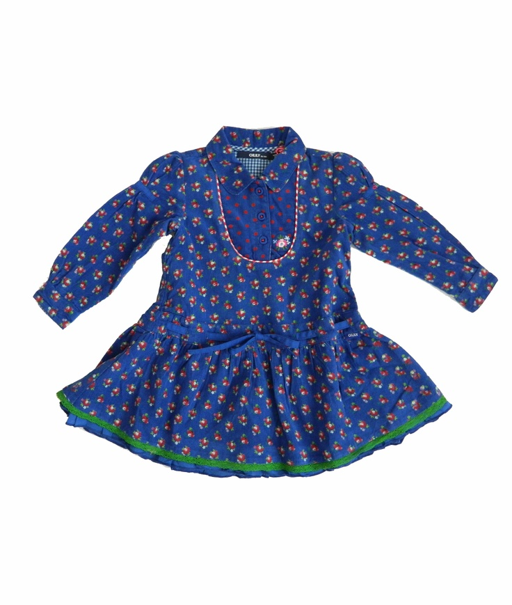 Oilily Dawn Blue Floral Special Dress - BABY. OMG so adorable❤️