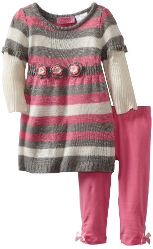 Amazon.com: Young Hearts Baby-girls Infant 2 Fer Crochet ...