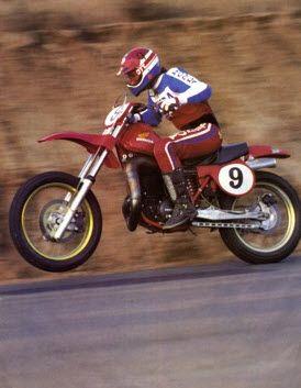 "Steve Wise racing ""The Superbikers"" in 1980 on his winning Honda RC480."