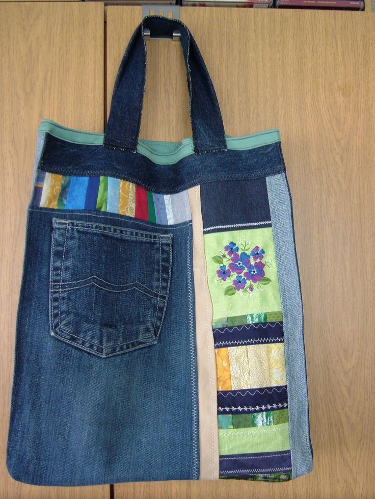 Jeansbeutel - verziert