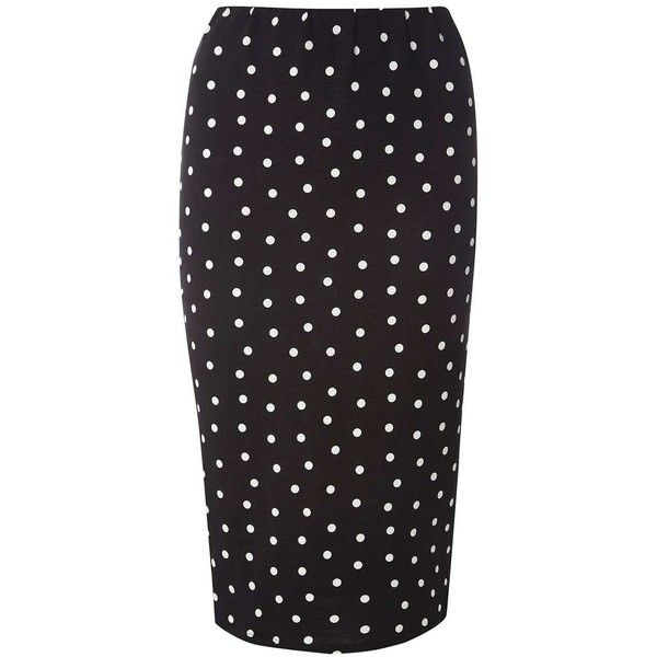 Dorothy Perkins Black Spot Jersey Tube Skirt ($29) ❤ liked on Polyvore featuring skirts, black, tube skirt, jersey skirt, dorothy perkins, polka dot jersey and rayon skirt