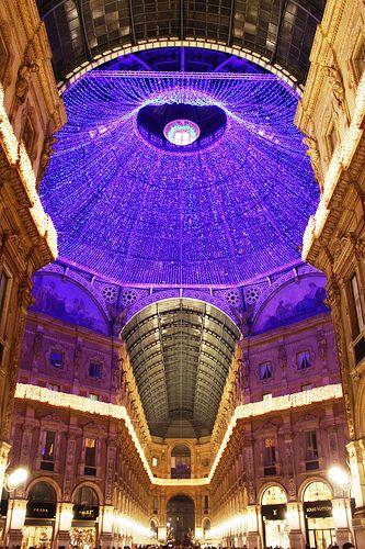 Illumination de Noel, Galleria Vittorio Emanuele II, Milan