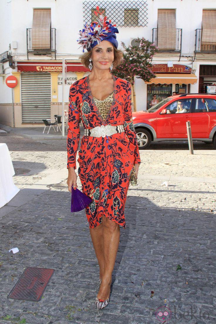 Naty Abascal en la boda de Verónica Cuevas y Manuel del Pino, junio 2014.