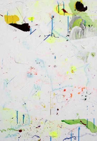 "Saatchi Art Artist Dragomir Misina; Painting, ""White Mountains 6"" #art"