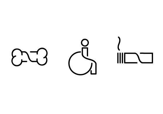 Pictograms for hardware warehouse wayfinding system on the Behance Network in Icons